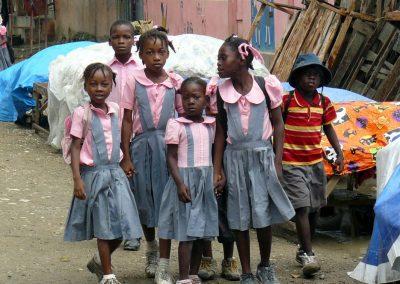Écoliers à Haïti